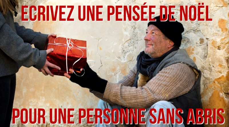 Aidez un SDF à Noël grâce à internet