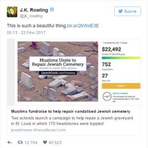 Tweet de J.K. Rowling