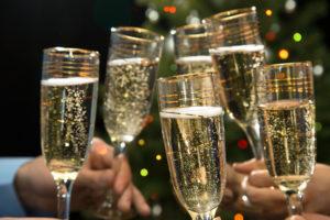 La cagnotte du jour de l'an champagne