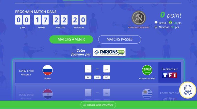 MonPetitProno va égayer votre coupe du monde !