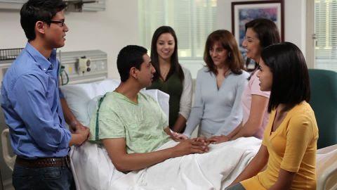 Vsite de patient à l'hôpital