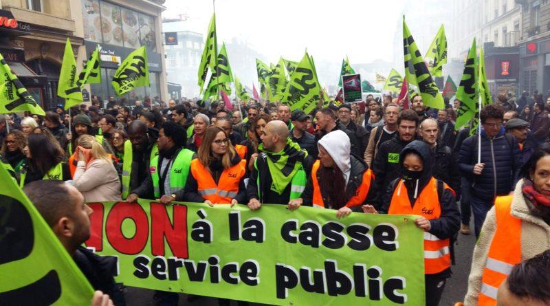 Une mobilisation importante pour les salariés en grève