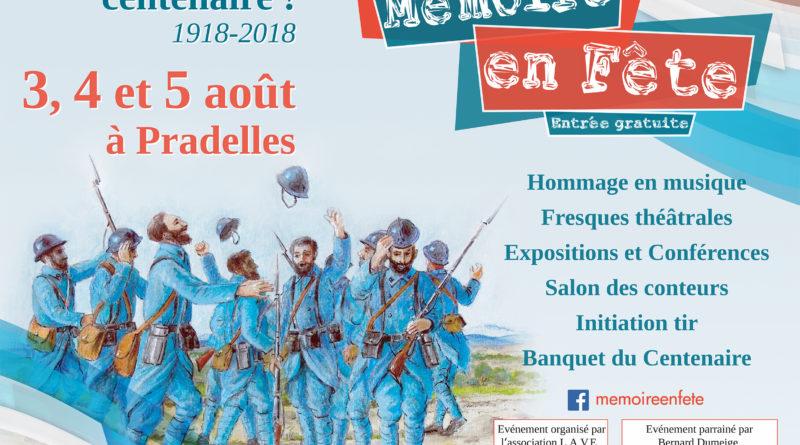 L'affiche du festival Mémoire en fêtes